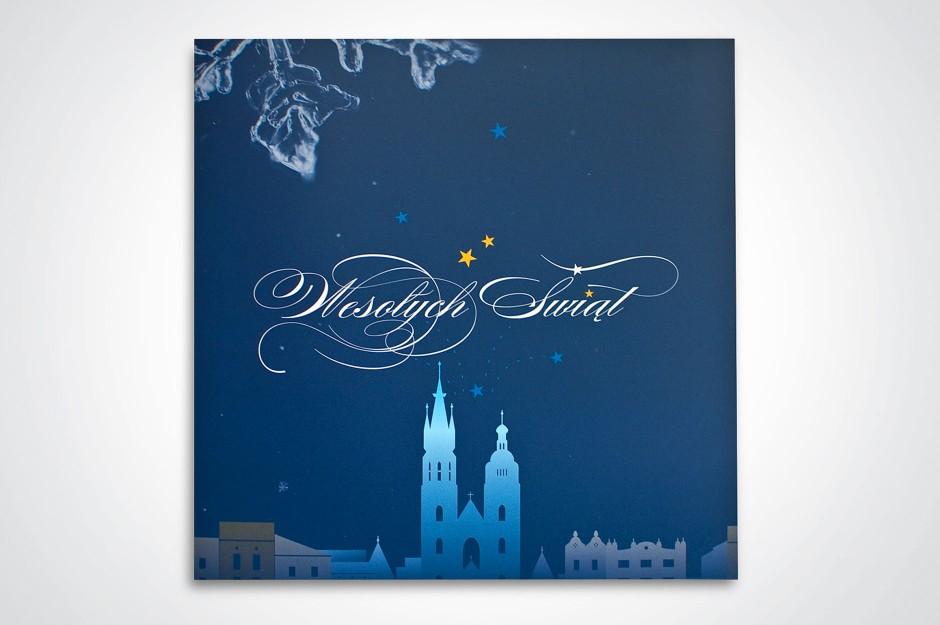 Kartka świąteczna Rady Izby Notarialnej w Krakowie