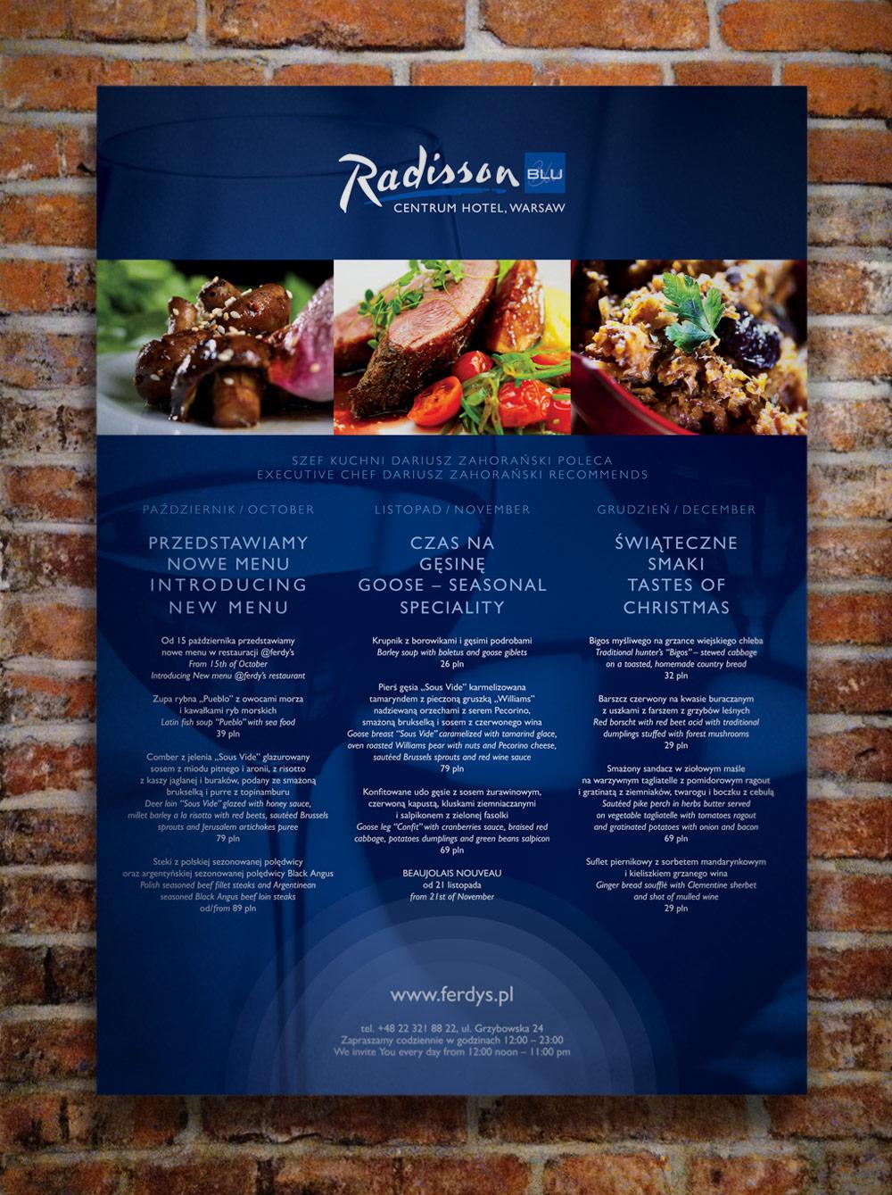 Radisson – kalendarz kulinarny