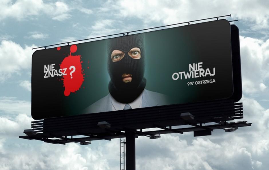 Akcja społeczna Nie znasz nie otwieraj - Billboard